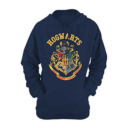 Plastic Head Harry Potter Crest Ghsw, Sweat-Shirt Femme, Bleu-Bleu, 38