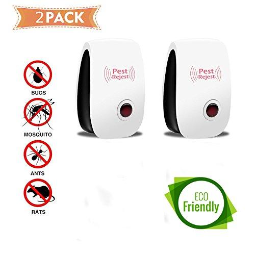 Ello - Ultraschall und elektromagnetisches Abwehrmittel - Hohe Qualität und Wirksamkeit - Mückenschutz, Insekten, Ratten, Fliegen - Umweltfreundlich und ungiftig für Men - 2 Pack