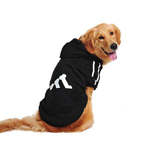ung Spring Clothes Golden Retriever Samojeden Siberian Husky Hunde Medium Hund Two-legged Sweater Vierbeinig Pet Kostüme,Black-5XL (Samojede Kostüm)