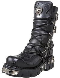New Rock Boots Womens Punk Gothic Stiefel Damen Style PUNK005 S1 Schwarz