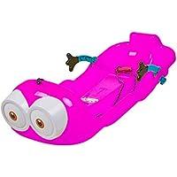 LEYOUDIAN Huaxueban Esquís engrosados Chapa de césped para niños, niños Adultos, Trineo de Nieve, Tabla de Arena, Patinaje, Trineo, Doble Tabla (Color : Pink)