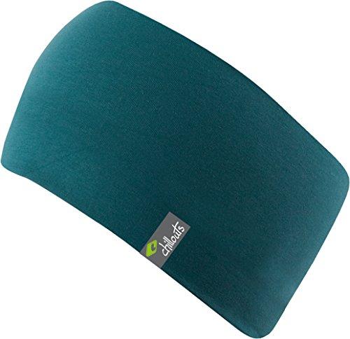 Eton Headband-sportliches Kopfband aus Baumwolljersey, doppellagiger und atmungsaktiv, (petrol)
