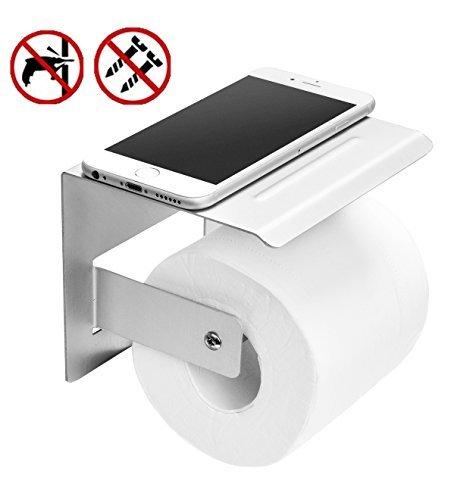 Klorollenhalter,Badezimmer Accessoires,Klopapier Halterung mit Ablage für Handy,Klopapier Halterung