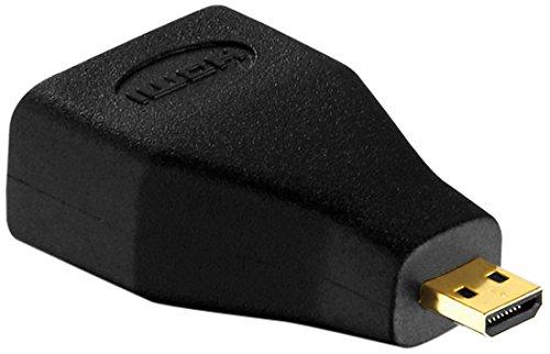 PureInstall PI080 Micro HDMI-D Stecker auf HDMI-A Buchse Adapter - Auflösungen bis auf UltraHD / 4K / 2160p Hp-plasma-hdtv