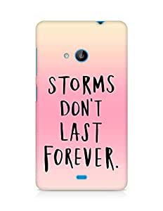 AMEZ storms dont last forever Back Cover For Microsoft Lumia 535