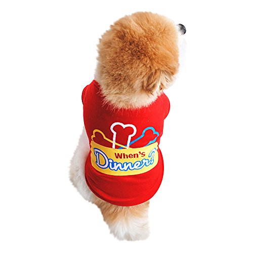 Robemon Kleiner Hund Kleidung,Frühling Und Sommer Baumwolle Chic, Weich Hundebekleidung T-Shirt Kurzarm Puppy Kostüm Hündchen Hund Kleidung (Hündchen Kostüm Für Mädchen)