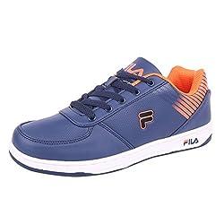 Fila Men Navy Orange Synthetic Lifestyle Shoes