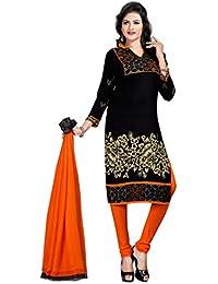 K Designer Women's Chiffon Unstitched Dress Material (Mehak9012_Multi-coloured_Freesize)