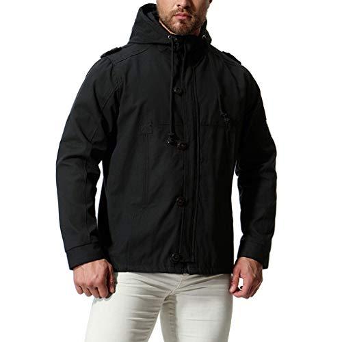 Bomberjacke Fashion Herren Trenchcoat Winterjacke Mit Kapuze Military Cotton Overcoat Wildlederjacke