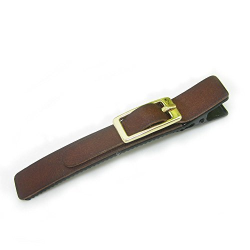 meilliwish-leather-alligator-hair-clip-a63brown