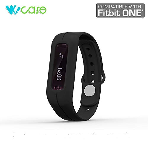 WoCase Oneband (Schwarz) Fitbit One Zubehör Armband für Fitbit One Aktivität und Schlaf Tracker (Drehen Ihr Fitbit One in tragbar Flex/Force/Charge (Band Für Force Fitbit)
