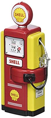 Greenlight Collectibles 14010b Pumpe Benzin Wayne 100A–Shell 1948–Echelle 1/18, rot/gelb von GREENLIGHT COLLECTIBLES