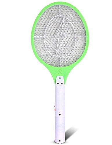 Qicuang Raqueta Matamoscas Electrico Recargable Mata Wasp Zapper Y Mosquitos (Verde)