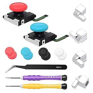 2er-Pack 3D-Joystick Analog Daumen-Stick für Switch Joy-Con Controller – inklusive Schraubendreher, Pinzette, Joy Con…