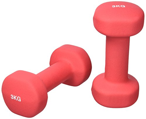 GORILLA SPORTS Kurzhantel-Set Vinyl 1-10 kg für Gymnastik, Aerobic, Pilates Fitness – 2er-Set in 6 Gewichts- und Farbvarianten