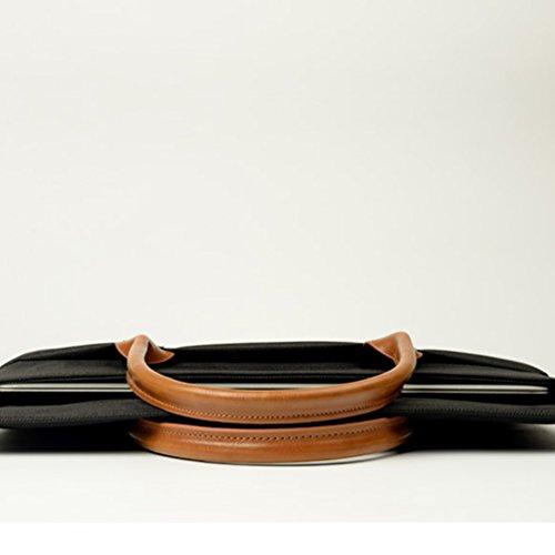 YiJee Shockproof Sleeve Custodia Borsa A Tracolla per Pc Portatili 11.6-15.4 Pollici Macbook Pro / Macbook Pro Retina 11.6 Inch Nero