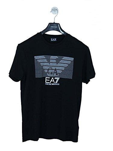 T-shirt uomo EA7 EMPORIO ARMANI, big logo, nero, art: 273917