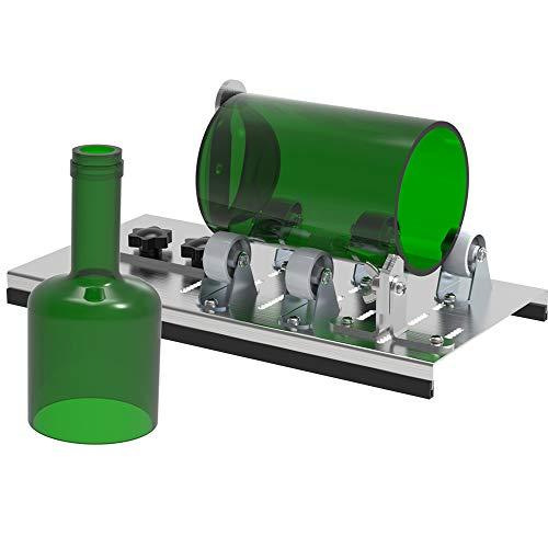 Flaschenschneider Kit Glasschneider Werkzeug Edelstahl Glasflaschenschneider für runde Flaschen zum Erstellen von Vasen, Flaschen, Pflanzgefäße, Flasche, Lampe, Kerzenhalter