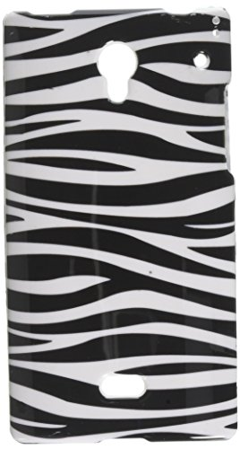 EagleCell Schutzhülle für Sharp Aquos Crystal 306SH, Glossy Zebra Crystal Faceplates