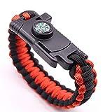 Youwendu Randonnée en Plein air 500LB Bracelet de Survie Paracord voyageant