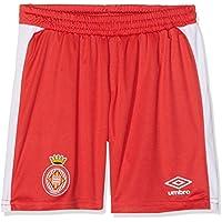 Girona F.C. 90088 Pantalón 1ª Equipación, Unisex niños, Rojo, 14 años