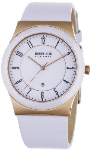 Bering Time - 32235-664 - Montre Homme - Quartz Analogique - Bracelet Cuir Blanc