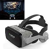 WANZIJING VR 3D Virtual-Reality-Headset für 3D-Filme und Spiele mit Adjustable High Definition Lens und Flexible Strap für die meisten Smartphones geeignet