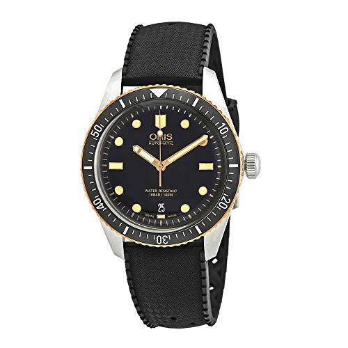 Oris Divers Orologio automatico da uomo in gomma con quadrante nero 01 733 7707 4354-07 4 20 18