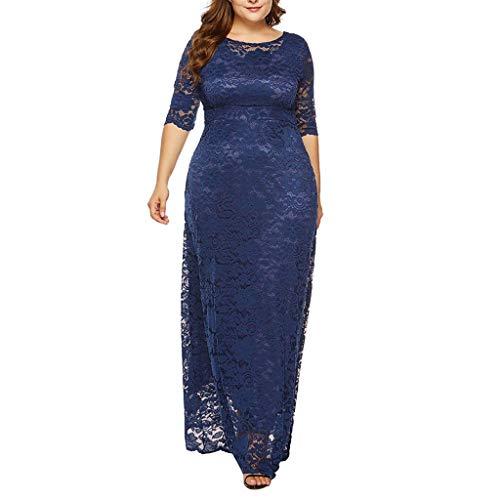 e4126afd8 Vestido Encaje Mujer de Fiesta Elegante Largos POLP Talla Grande Vestido de  Noche Invierno Vestido de