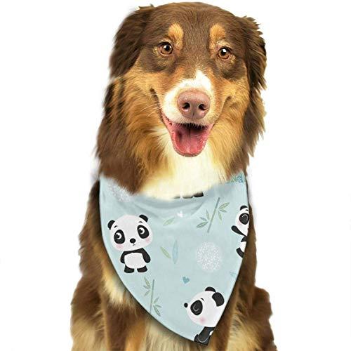 Blau Pandas Cute Fashion Pet Bandanas Hund Auto Halstuch Für Unisex Pet Boy (Leia Kostüm Mann)