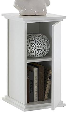 FMD Möbel 641-001 Dekosäule Holz, weiß, 30 x 30 x 58 cm