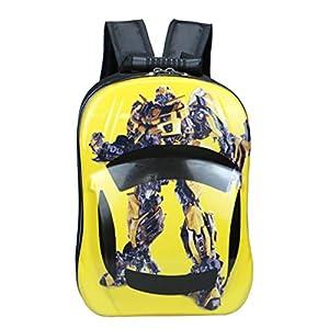 Backpack Paquete De Cáscara De Huevo para Niños Robot De Impresión Transformers Picture Mochilas Infantiles Escuela Infantil Mochila Adolescentes Mochilas Bolsas Escolares 2-5 Años Yellow-34 * 24cm