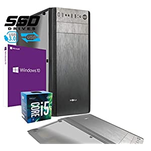 pc desktop - 412qfZK9YuL - PC Desktop Intel i5 7400 3,50 GHZ / Grafica Intel HD 630 / 8GB DDR4 / Licenza Windows 10 PRO / 1TB HDD + SSD 240 GB / PC Assemblato PC Fisso Da Ufficio Casa Completo HD Pronto USB 3.0 Case ATX