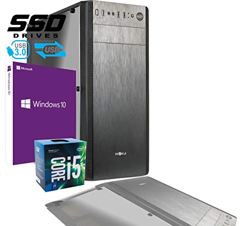 PC DESKTOP INTEL i5 7400 3,50 GHZ/GRAFICA INTEL HD 630 / 8GB DDR4 / LICENZA WINDOWS 10 PRO/SSD 480 GB/PC ASSEMBLATO PC FISSO DA UFFICIO CASA COMPLETO HD PRONTO USB 3.0 CASE ATX