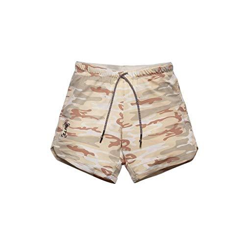 TIMEMEAN Jeans Shorts Herren Fitness Sport Slim Fit Einfarbig Beiläufig Elastische Taille Shorts Hosen