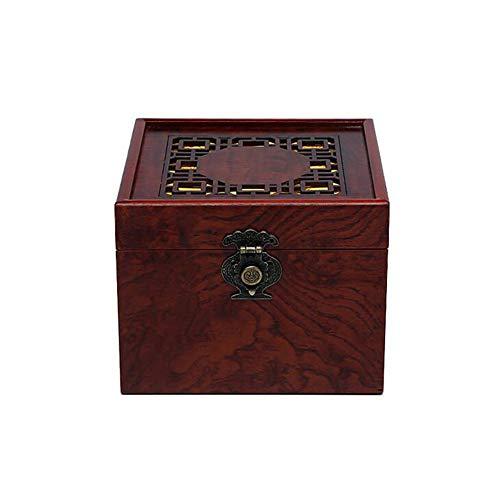 Nwzw urna funeraria adulto scrigno cineraria in animale domestico legno solida urna cineraria in legno,adatto per l'ufficio o la sepoltura,16.5cm*16.5cm