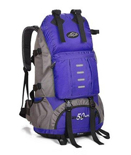 Outdoor Bergsteigen Rucksack Unisex Reise Schulter Tasche Blue