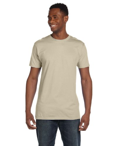 Hanes 4980 Mens Nano T-Shirt 1 Purple + 1 Sand