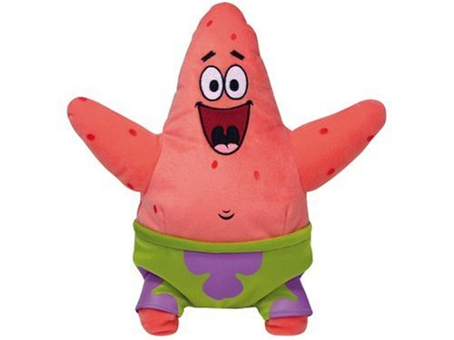 TY 7190049 - SpongeBob - Patrick Seestern Large, 30 cm, Beanie (Und Patrick Spongebob)