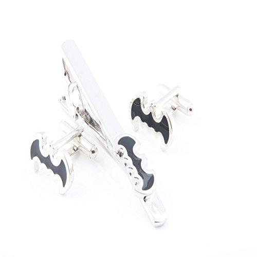 Metal Kostüm Knight - Superheld Batman Krawattennadel Bar Krawatte Clip Manschettenknöpfe Set Zubehör Kostüm Requisiten