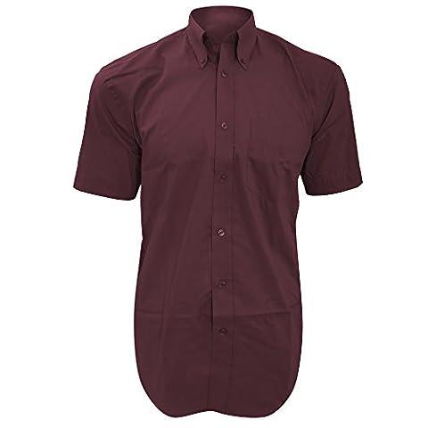 Kustom Kit Mens Short Sleeve Corporate Oxford Shirt (16.5inch)
