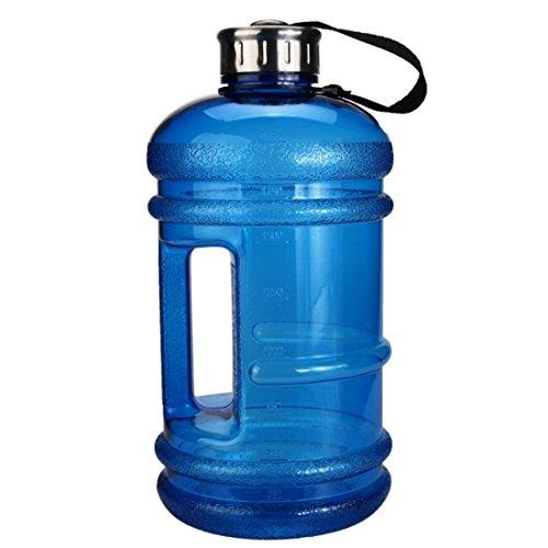 Sport-Wasser-Flasche mit großer Kapazität von 2,2 L, inklusive Getränk-Kappe für Outdoor-Aktivitäten, dunkelblau