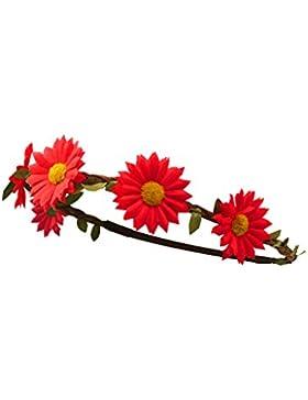 Trachten - Margeriten Haarband geflochten braun / rot