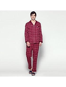 DMMSS Home vestito pigiama manica pigiama cotone lunga maschile- , 2 , l