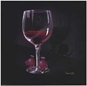 He Devil She Devil Red Wine Poster Print by Michael Godard (12 x 12)