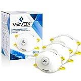 Vevox® FFP2 Atemschutzmaske im 10er Set - Absolute Premium Staubmaske - Individuell Verstellbare Feinstaubmasken - Optimal auch für Brillenträger