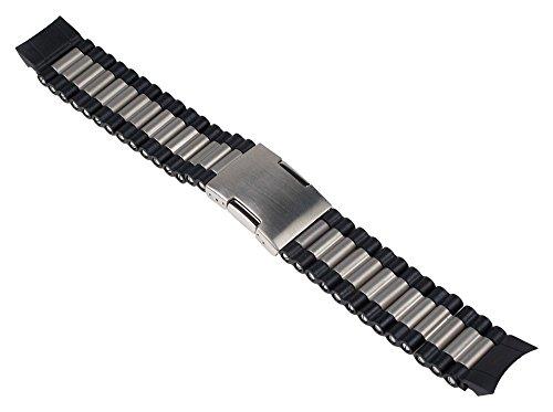timex-adventure-ersatzband-edelstahl-silberfarben-schwarz-matt-massiv-20mm-passend-zu-t49868