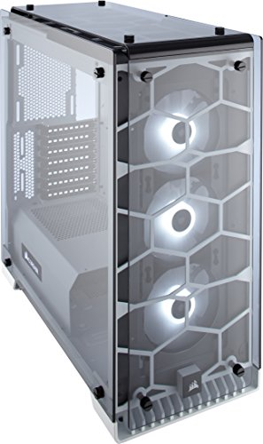 Compare Prices for Corsair CC-9011110-WW Crystal Series 570X RGB Windowed Mid-Tower ATX Tempered Glass Case with RGB Case Fans – White Review