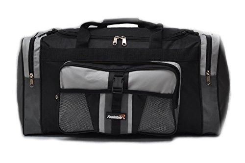 foolsGold Sports Holdall Bag 24 inch 50 Litre - Grey Black 0d26cc737f99d