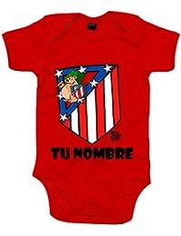 Body bebé Atlético de Madrid El Escudo del Atleti clásico personalizable ...